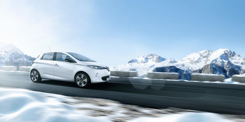 Renault ZOE: 100% elektrisch, 100% wintertauglich