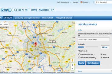 Volle Ladung: Clevere Online-Ladesäulenfinder für E-Autos
