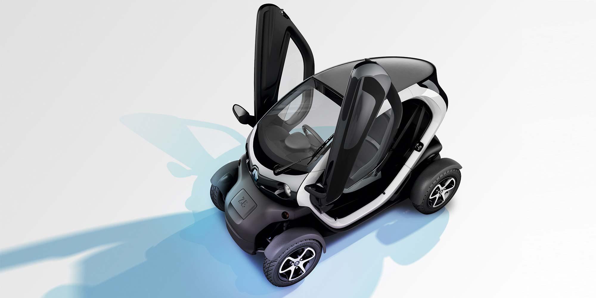 Renault TWIZY auf dem Eis
