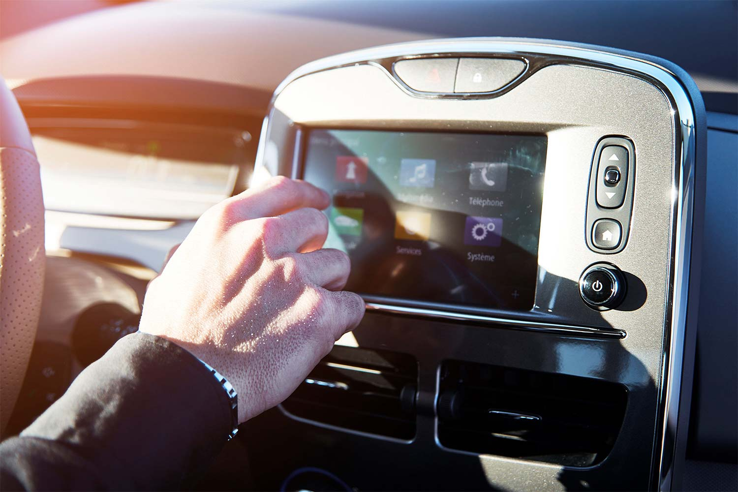 Renault ZOE R-Link Evolution: Touch Display