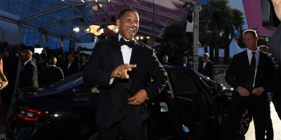 Will Smith & Co. fahren im Renault in Cannes vor