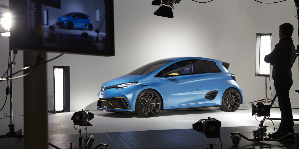 Nicolas Prost testet Renault ZOE e-Sport Concept