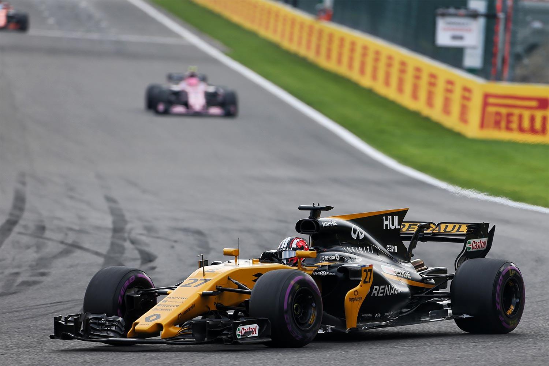 Hülkenberg erobert in Spa Platz sechs