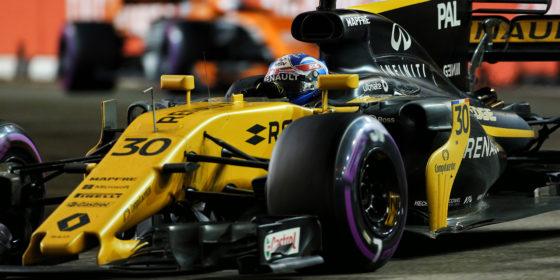 Renault F1 glänzt in Singapur