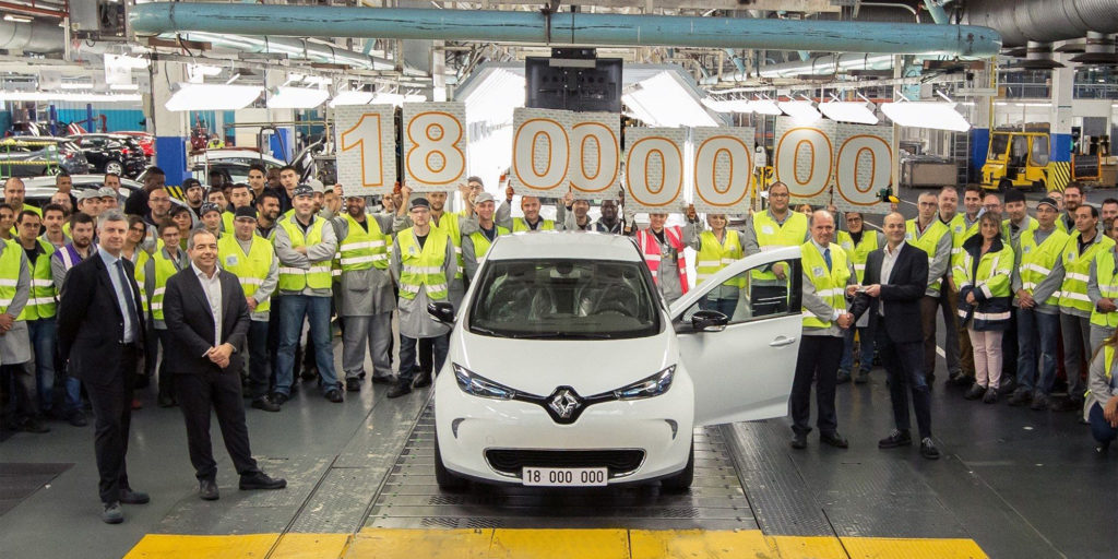 18-millionstes Fahrzeug ist ein Renault Zoe