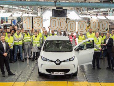 Jubelstimmung im Werk Flins: 18-millionstes Fahrzeug ist ein Renault ZOE