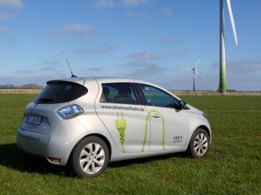 Föhr fördert Ökostrom. Mit dabei: der Renault ZOE