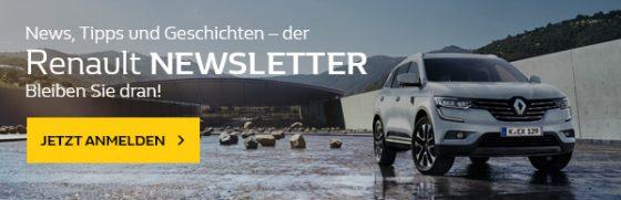 Renault Newsletter Banner