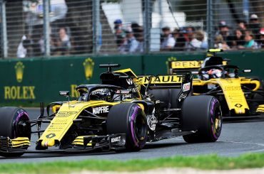 Beide Renault R.S. 18 in den Top 10