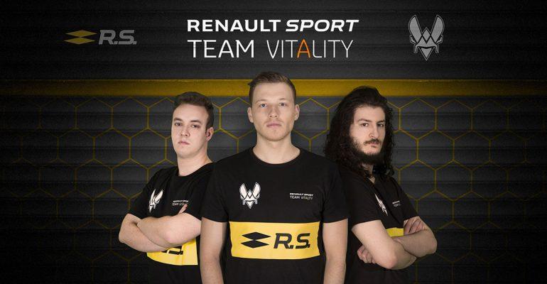 Renault Sport Team Vitality tritt bei E-Sport-Wettkämpfen an