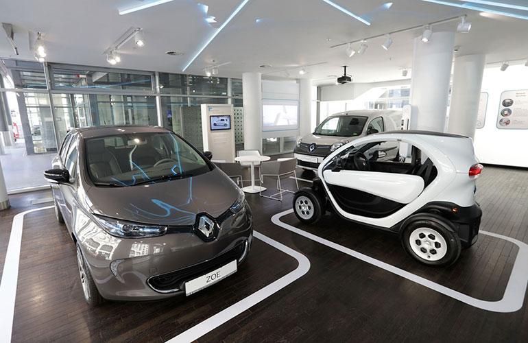 Renault Electric Vehicle Center in der Hauptstadt