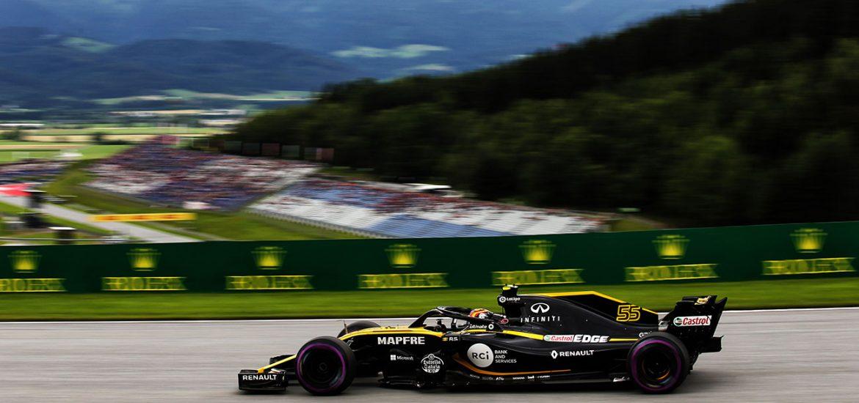 Renault Formel 1 Team mit Pech in Oesterrreich