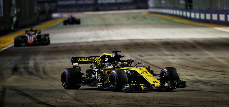 Die Renault Sport F1-Piloten holten fuenf WM-Punkte in Singapur