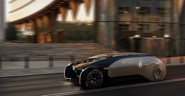 Renault Concept Car EZ ULTIMO auf dem Pariser Autosalon