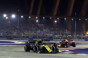 Heiße Nacht für Renault F1 in Singapur