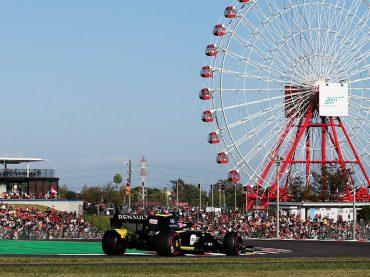 F1 GP Japan: Beide Renault R.S. 19 in den WM-Punkten