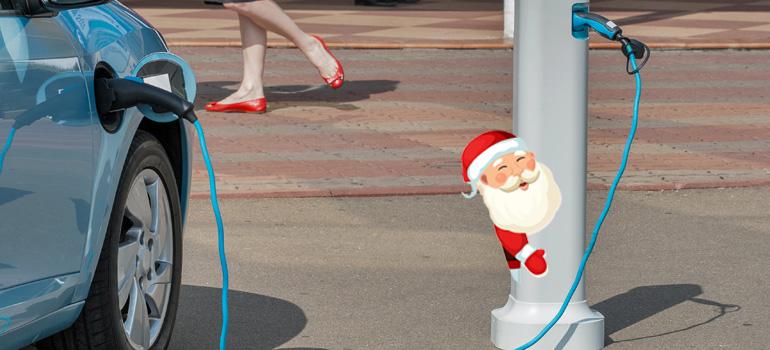 Renault ZOE und der Weihnachtsmann