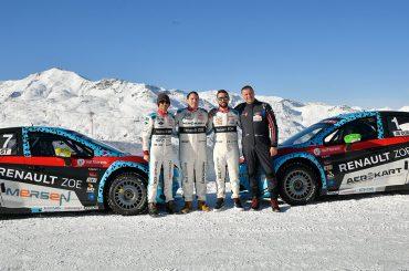Trophée Andros: Elektroauto Renault ZOE fährt bei Eisrennserie zum Vizetitel